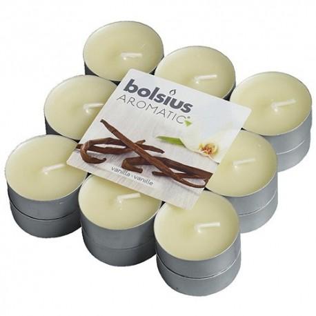 Čajové svíčky Bolsius - Vanilka (18 ks)