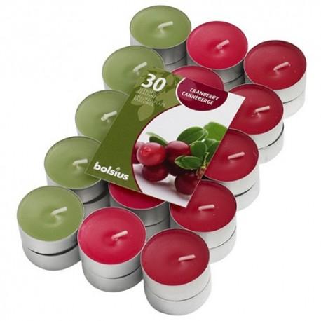 Čajové svíčky Bolsius - Brusinky (30 ks)