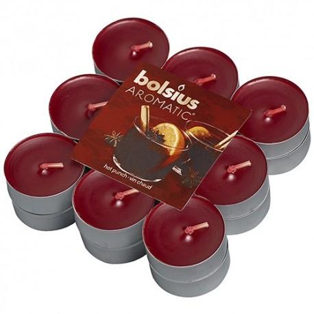 Čajové svíčky Bolsius - Horký punč (18 ks)