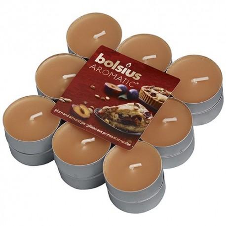 Čajové svíčky Bolsius - Plum & Almond Pie (18 ks)