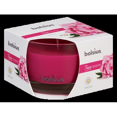 BOLSIUS aroma svíčka ve skle 63/90 Pivoňka